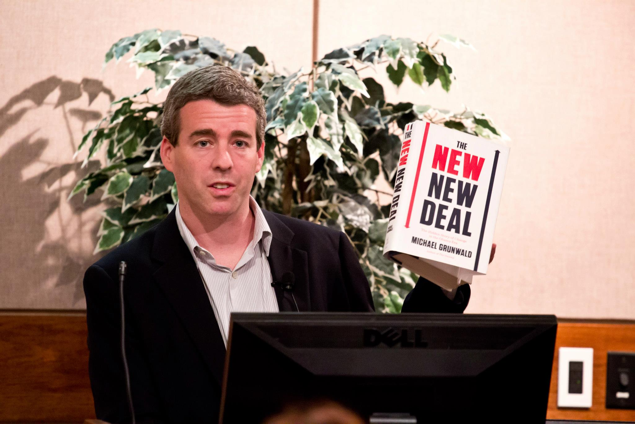 Michael Grunwald at Northeastern University. Image courtesy of Northeastern University Libraries.