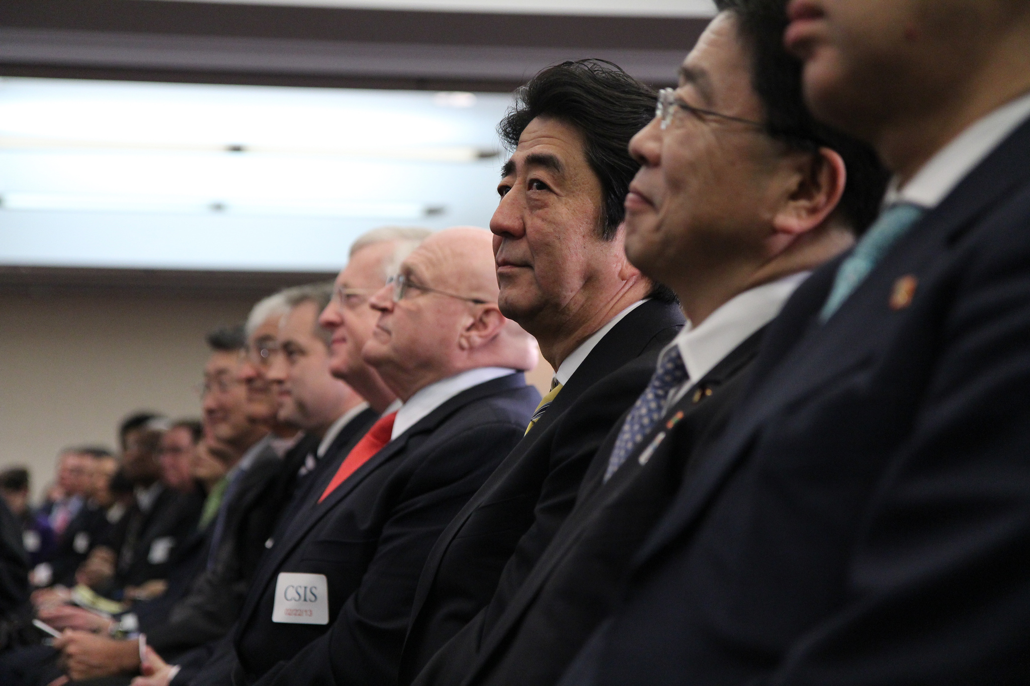 Shinzo Abe, Prime Minister of Japan at CSIS Conference (by CSIS via Flickr)