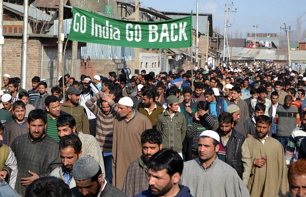 Protest march against India in Srinagar, Kashmir. (by Shahid Tantray)