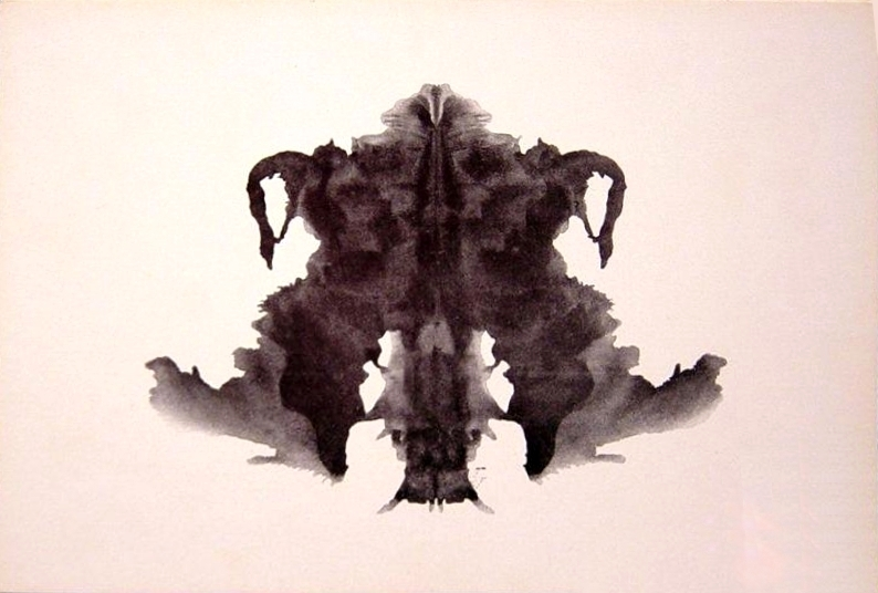 The fourth blot of the Rorschach test. (via Wikipedia)
